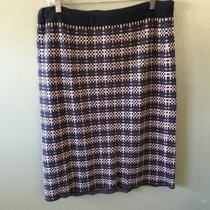 ann taylor squares stretch pencil skirt